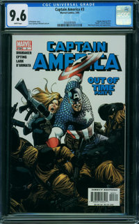 Captain America #3 (Marvel) CGC NM+ 9.6 WHITE pages