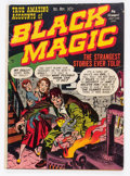 Golden Age (1938-1955):Horror, Black Magic #1 (Crestwood/Headline, 1950) Condition: GD/VG....