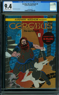 Cerebus the Aardvark #9 (Aardvark-Vanahem, 1979) CGC NM 9.4 OFF-WHITE TO WHITE pages