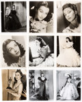 "Movie/TV Memorabilia:Photos, A Vivien Leigh Group of Black and White Stills from ""Gone With The Wind.""..."