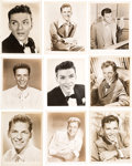 Movie/TV Memorabilia:Photos, A Frank Sinatra Group of Early Black and White Headshots andStills, 1940s....