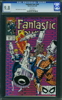 Fantastic Four #343 (Marvel, 1990) CGC NM/MT 9.8 WHITE pages