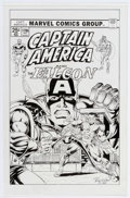 Original Comic Art:Covers, Ron Wilson and Chris Ivy Captain America #179 CoverRecreation Original Art (Marvel, 2006).... (Total: 3 Items)