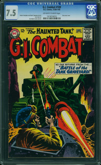G.I. Combat #109 (Quality, 1965) CGC VF- 7.5 OFF-WHITE TO WHITE pages