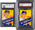 Baseball Cards:Unopened Packs/Display Boxes, 1959 Fleer Ted Williams Unopened 5-Cent Wax Pack Pair (2). ...