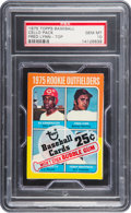 Baseball Cards:Unopened Packs/Display Boxes, 1975 Topps Cello Pack With Lynn Rookie on Top PSA Gem Mint 10....