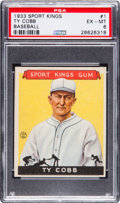 Baseball Cards:Singles (1930-1939), 1933 Sport Kings Ty Cobb #1 PSA EX-MT 6....