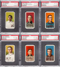 Baseball Cards:Lots, 1909-11 T206 White Borders HoFers PSA-Graded Collection (6). ...