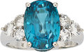 Estate Jewelry:Rings, Zircon, White Sapphire, White Gold Ring. ...