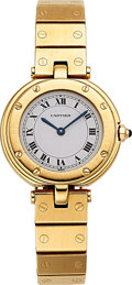Estate Jewelry:Watches, Cartier Lady's Gold Santos Watch. ...