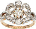 Estate Jewelry:Rings, Antique Colored Diamond, Diamond, Platinum-Topped Gold Ring. ...