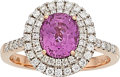 Estate Jewelry:Rings, Pink Sapphire, Diamond, Rose Gold Ring . ...