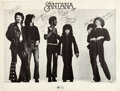 Music Memorabilia:Autographs and Signed Items, Santana Signed Poster (Early 1970s)....