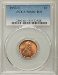 Lincoln Cents: , 1952-S 1C MS66 Red PCGS. PCGS Population: (1838/182). NGC Census: (1683/393). CDN: $30 Whsle. Bid for problem-free NGC/PCGS...