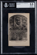 Baseball Cards:Singles (1930-1939), 1939-52 Albertype Hall of Fame Babe Ruth BGS EX+ 5.5....