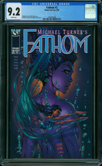 Fathom #2 (Image, 1998) CGC NM- 9.2 WHITE pages