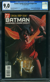 Batman: Legends of the Dark Knight #100 (DC, 1997) CGC VF/NM 9.0 WHITE pages