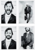 Music Memorabilia:Photos, Ringo Starr Black and White Photos by Nancy Andrews with Negativesand Full Copyright....
