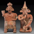 Pre-Columbian:Ceramics, A Nayarit Couple. c. 200 BC - 200 AD... (Total: 2 Items)