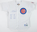 Autographs:Jerseys, Sammy Sosa Signed & Inscribed Chicago Cubs Jersey with SingleSigned Baseball....
