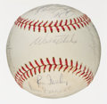 Autographs:Baseballs, 1965 Los Angeles Dodgers Team Signed Baseball (21 Signatures). ...