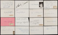 Autographs:Index Cards, Chicago Cubs Signed Index Card, Cut and Photograph Collection (18)....
