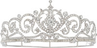 Diamond, White Metal Tiara