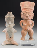 Pre-Columbian:Ceramics, Two Tlatilco Figures. c. 900 - 600 BC... (Total: 2 Items)