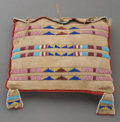 American Indian Art:Beadwork and Quillwork, A Crow Beaded Hide Tipi Bag . c. 1900...