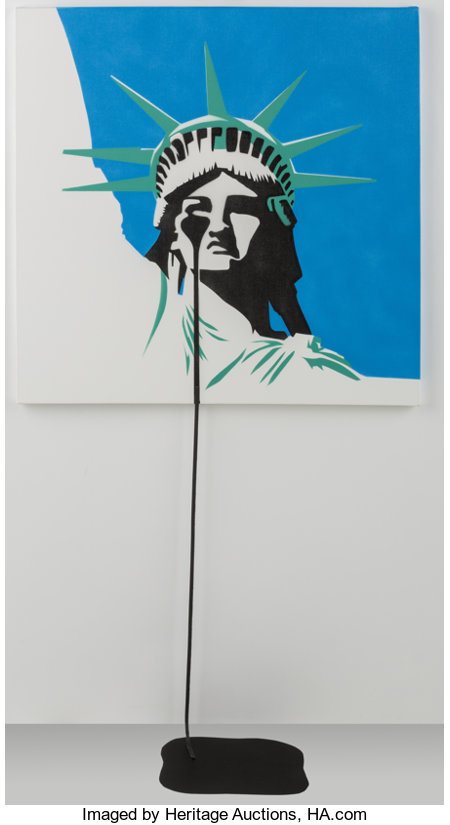 Pure Evil (b. 1968)America's Nightmare, 2017Spray paint on canvas29-3/4 x 29-3/4 inches (75.6 x 75.6 cm)Signed, ...