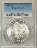 Morgan Dollars: , 1885-CC $1 MS65 PCGS. PCGS Population: (4350/1265). NGC Census:(1776/769). CDN: $1,020 Whsle. Bid for problem-free NGC/PCG...