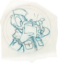 Animation Art:Concept Art, Hank Porter - Donald Duck World War II Insignia Concept Art (WaltDisney, c. 1940s)....