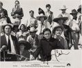 Music Memorabilia:Autographs and Signed Items, Johnny Cash Autographed Movie Still from A Gunfight(1971)....