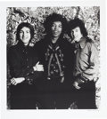 Music Memorabilia:Photos, Jimi Hendrix Experience Limited Edition Black and White Photo Printby Bruce Fleming (1967)....