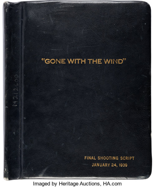 A Special Leather Bound Script From Gone With The Wind Lot