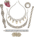 Movie/TV Memorabilia:Memorabilia, An Ava Gardner Collection of Bling-y Rhinestone Jewelry, Circa1940s-1960s.... (Total: 8 Items)