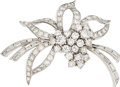 Estate Jewelry:Brooches - Pins, Diamond, Platinum Pendant-Brooch, Van Clief. ...