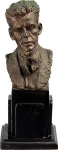 Movie/TV Memorabilia:Original Art, A Frank Sinatra Statuette by Sculptor Jo Davidson, 1946....