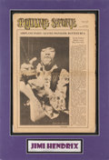 Music Memorabilia:Autographs and Signed Items, Jimi Hendrix Signed Rolling Stone Volume One, Number Seven(1968)....