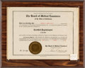 Music Memorabilia:Documents, Timothy Leary Medical Certificate (1959)....