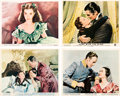"Movie/TV Memorabilia:Photos, A Group of Color Stills from Various Re-Releases of ""Gone With TheWind,"" 1960s...."