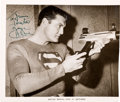 """Movie/TV Memorabilia:Autographs and Signed Items, A George Reeves Signed Black and White Photograph of Him as""""Superman,"""" Circa 1950s...."""