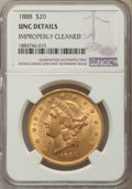 Liberty Double Eagles, 1888 $20 -- Improperly Cleaned -- MS60 NGC Details. UNC. NGC Census: (187/598). PCGS Population: (133/563). CDN: $1,750 Whs...