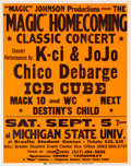 Music Memorabilia:Posters, Hip-Hop/R&B - Destiny's Child/Beyonce/Ice Cube Michigan StateUniversity Concert Poster (Magic Johnson Productions, 1998). ...