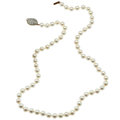 Estate Jewelry:Necklaces, Cultured Pearl, Diamond, Gold Necklace . ...