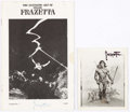 Memorabilia:Poster, Frank Frazetta Signed Memorabilia (1970s-80s). (Total: 4 Items)....(Total: 4 Items)