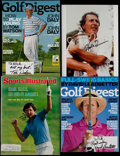 Golf Collectibles:Autographs, Signed Golf Photo & Magazine Lot of 4 - Includes Tom Watson,Hale Irwin, and David Leadbetter....