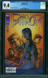 Fathom #3 (Image, 1998) CGC NM 9.4 WHITE pages