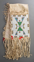 American Indian Art:Beadwork and Quillwork, A Sioux Beaded Hide Double Saddle Blanket. c. 1890...