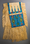 American Indian Art:Beadwork and Quillwork, A Contemporary Sioux Beaded Hide Double Saddle Bag...